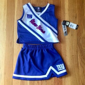 NWT NY Giants Cheerleader NFL outfit size 3T